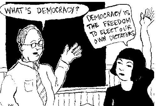 Un dazebao sulla democrazia