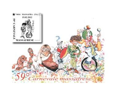 Domenica annullo filatelico 59° Carnevale Massafrese