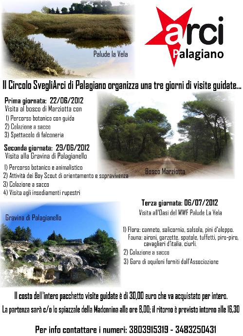 Il Circolo SvegliArci di Palagiano organizza una tre giorni di visite guidate