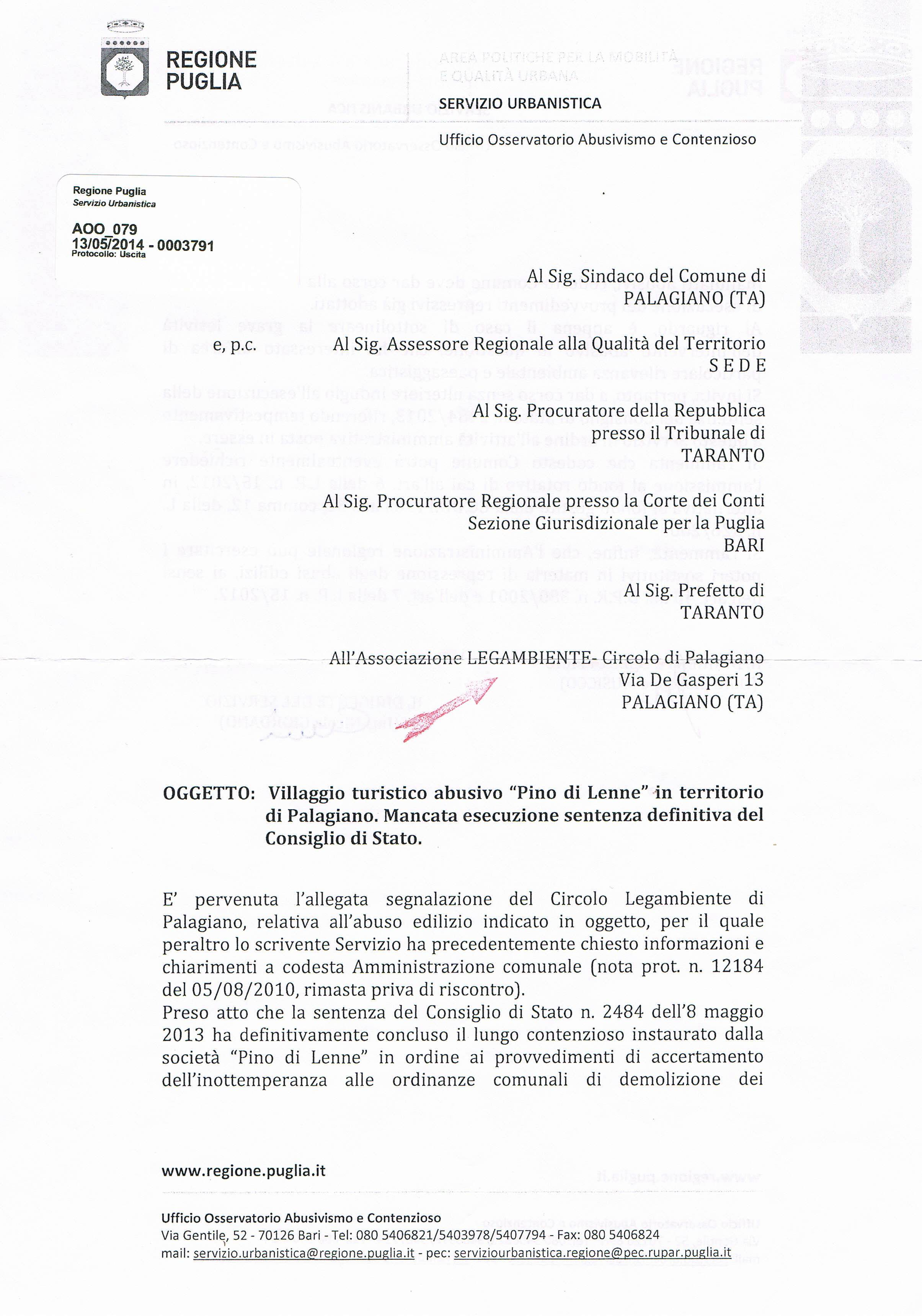 LA LEGALITA' NON ALBERGA A PALAGIANO!
