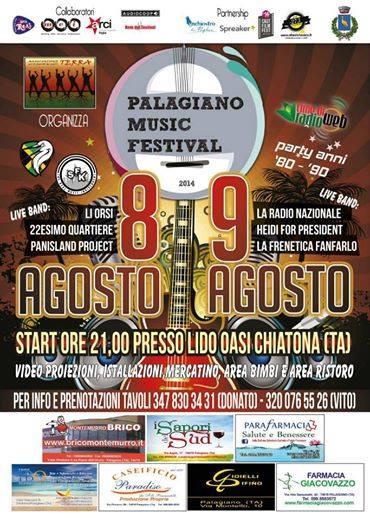 PALAGIANO MUSIC FESTIVAL 2014 – VIII EDIZIONE