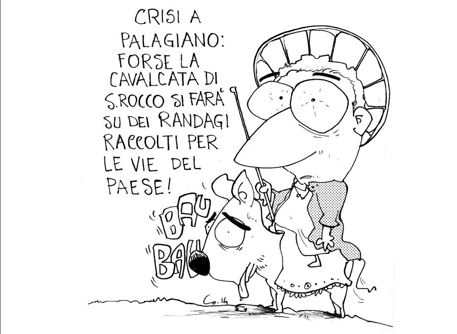 "La ""crisi"" palagianese. Le vignette di Antonio Vinci."