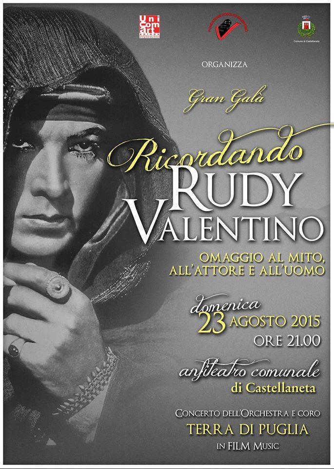 Ricordando Rudy Valentino domenica 23 agosto a Castellaneta