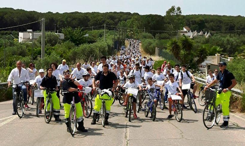 Più di 300 partecipanti alla ormai tradizionale  ECOPEDALATA a Palagiano