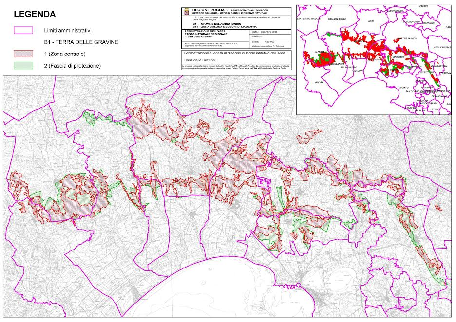 La legge istitutiva del Parco regionale della Terra delle Gravine subisce un ennesimo colpo