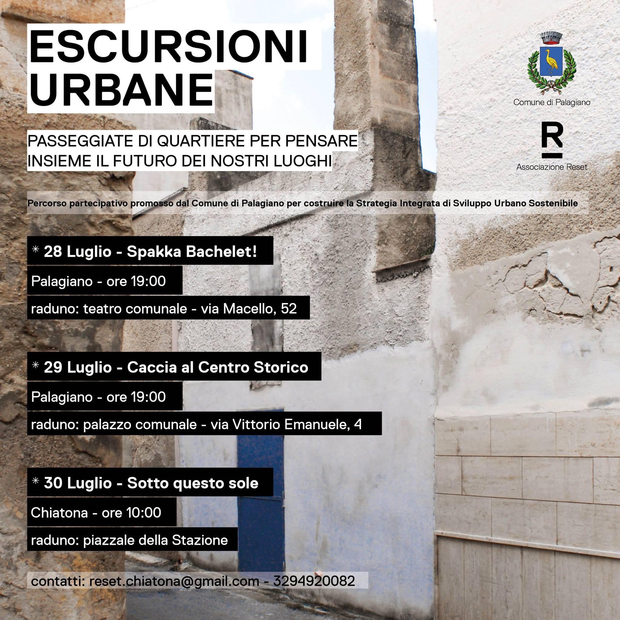 ESCURSIONI URBANE Palagiano 28-29-30 luglio