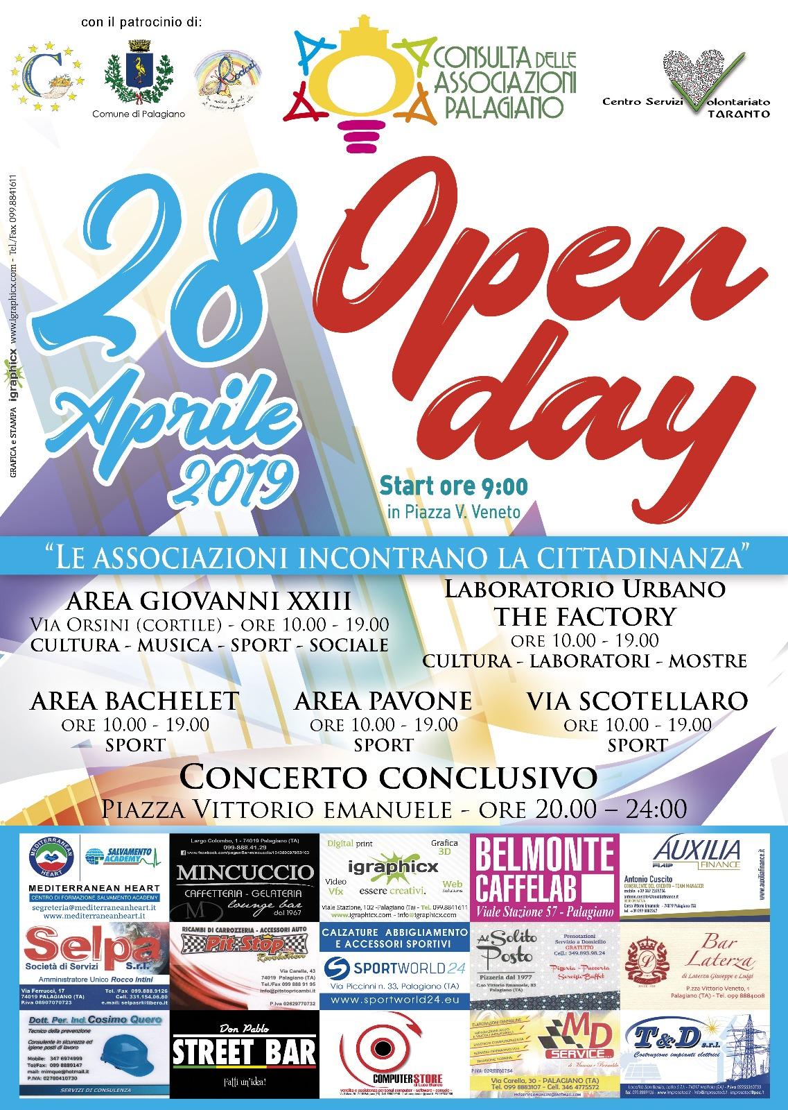 A Palagiano il primo Open Day delle associazioni