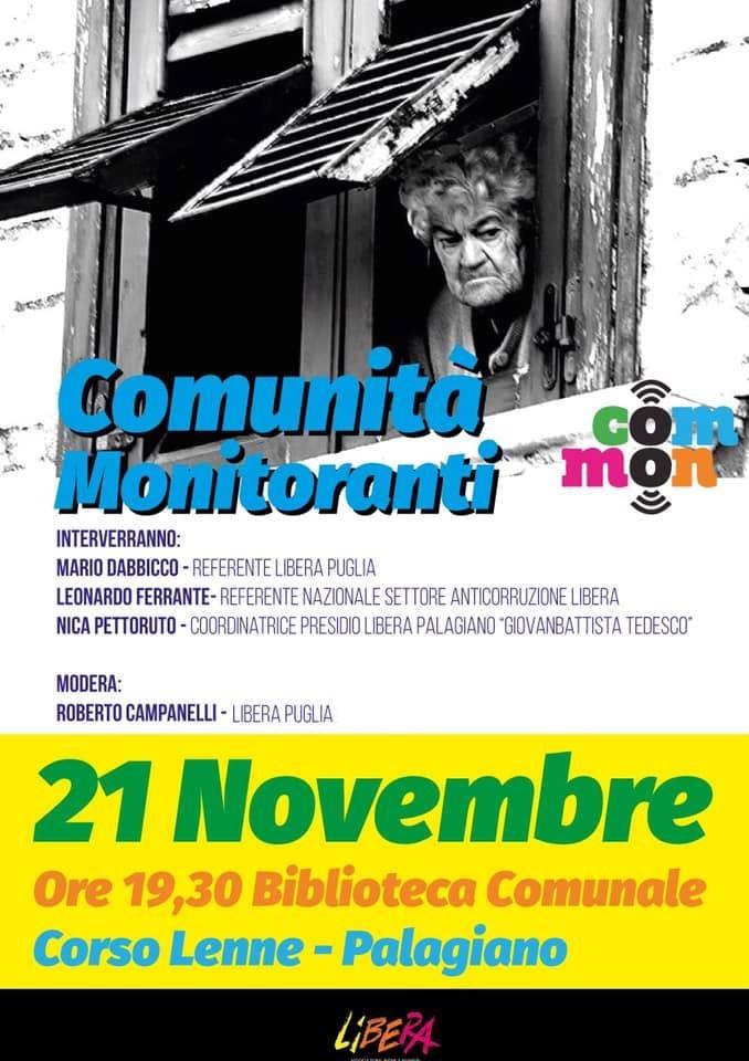 """A Palagiano: """"Comunita' Monitoranti"""""""