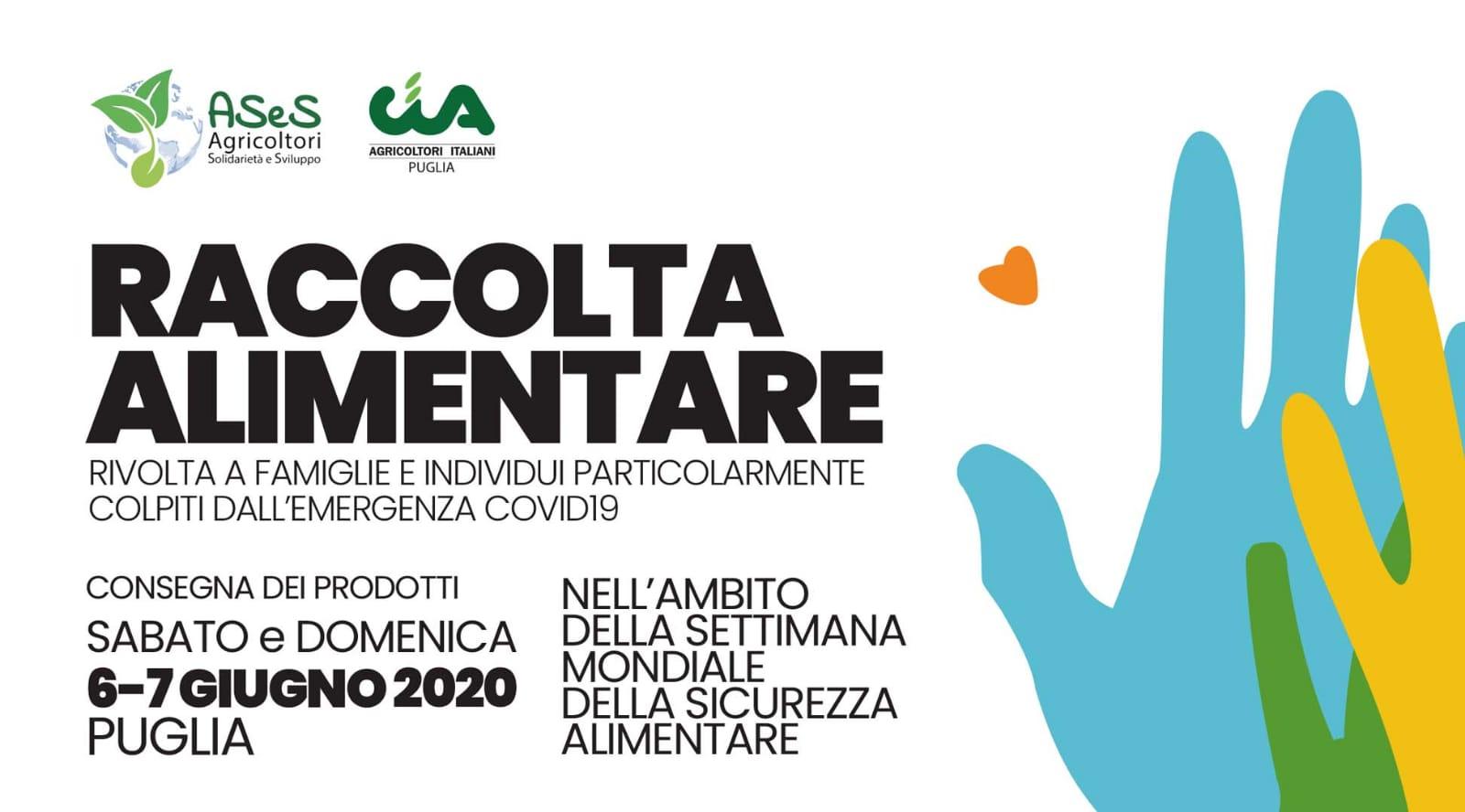 Campagna #agricoltorisolidali: Ases e CIA Puglia donano derrate alimentari alle Caritas territoriali