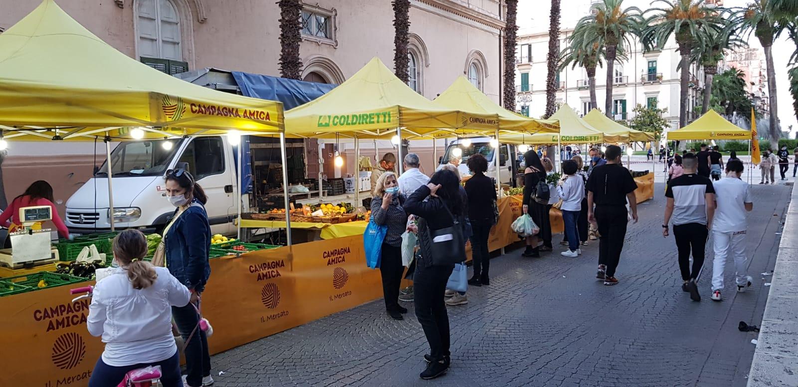 COLDIRETTI TARANTO. Il Covid ferma il mercato Campagna Amica in via Mignogna