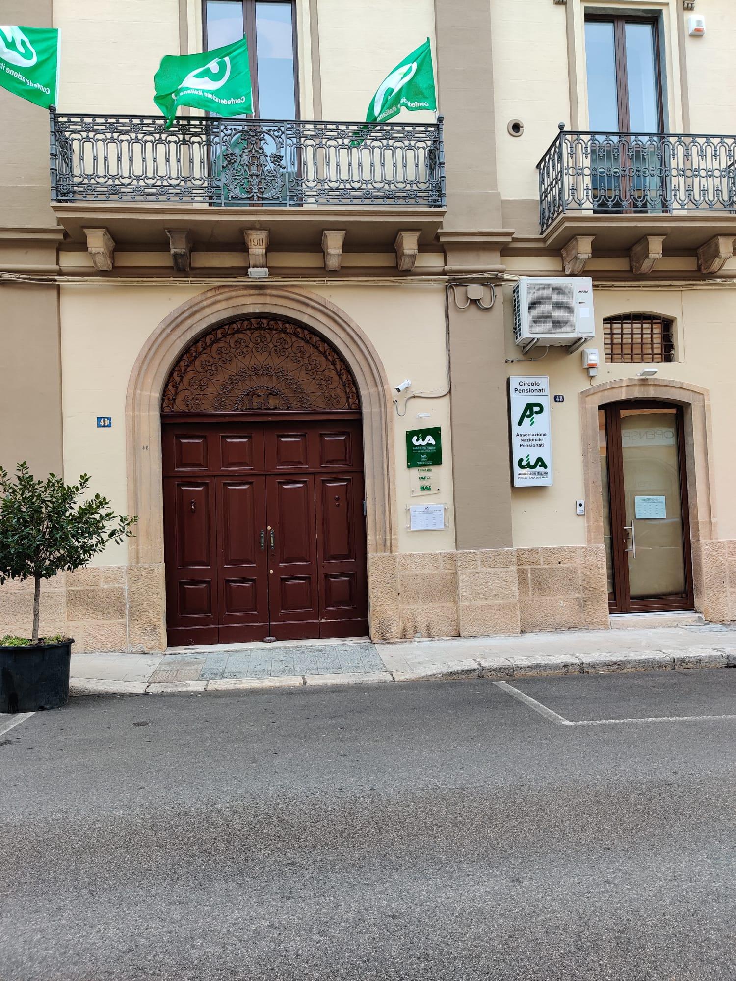 La sede Cia a Castellaneta tra storia e futuro